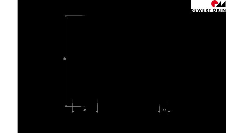 DewertOkin Bedding Handsets RF-Touchline technische Zeichnung